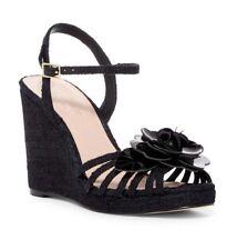Kate Spade Beekman Wedge Sandal Black Size 10.5 Woman Shoes Festival Party