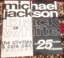 MICHAEL JACKSON black or white,the clivilles & cole (c&c)remixes 1991 DUTCH 12""