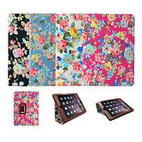Pour Apple Ipad Mini vintage multicolore fleur design Livre étui à clapet