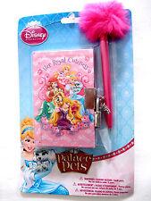 "Disney Princess ""Her Royal Cuteness"" Palace Pets Mini Diary with Pen NEW"