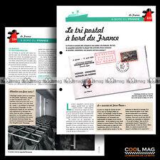 #clf101.009 ★ LE TRI POSTAL DU PAQUEBOT FRANCE (COURRIER) ★ Fiche Marine