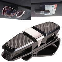 Universal Black Car SUV Sun Visor Glass Sunglass Card Ticket Holder Clip Holder