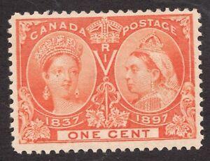 Sc #51 - Canada - 1897 - QV - 1 Cent Jubilee - MH VF - Superfleas - cv$40