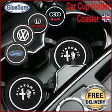 Car Logo Cup Holder slot Coaster Non-slip mat Customise interior branded styling