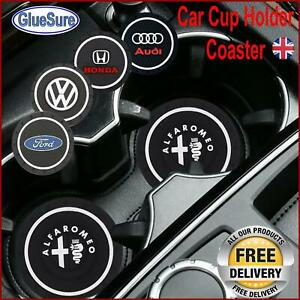 Car Logo Cup Holder slot Coaster Non-slip mat Customise interior branded styling