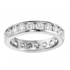 Eternity Wedding Band Ring In Platinum 2.00 ct Ladies Round Cut Diamond