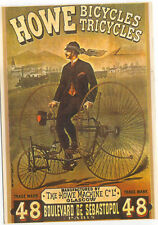 Howe Bicycles Tricycles MODERN postcard issued in France