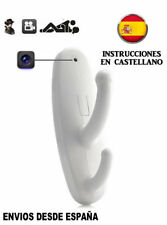 Percha Espia Camara Spy Cam con Detector de Movimiento color blanco