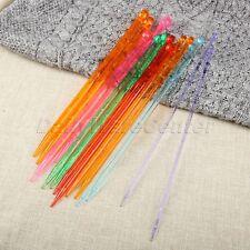14Pcs/set Sweater DIY MultiColour Crystal Knitting Needles Weaving Tool 4mm-10mm