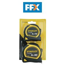 Stanley STA998985 Tylon Measuring Tape Twin Pack 5m 16ft and 8m 26ft Measure