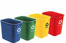 Acrimet Wastebasket for Recycling 13QT (4 Units)