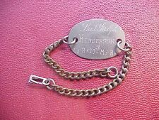 ORIGINAL WWI OFFICERS ID BRACELET CO.B 129TH MG BATTALION 35TH DIVISION