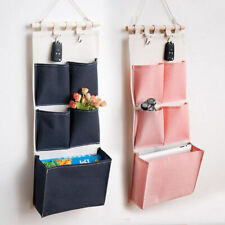 Bedroom Storage Bag Wall Hanging Modern Container Home Decor Canvas Three Layer