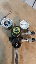 AGA Nitrogen Gas Regulator Twin Gauge Industrial With Pressure Switch