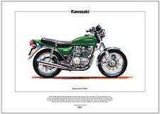 KAWASAKI Z650 - Motorcycle Fine Art Print - Japanese manufactured 650cc machine