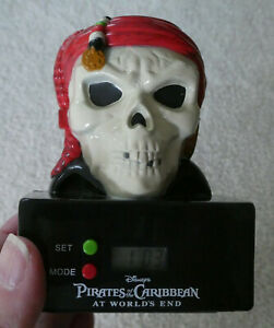 Disney Pirates of the Caribbean: At World's End Skull Projector Alarm Clock
