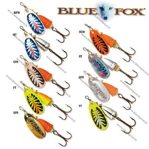 Blue Fox Vibrax FLUORESCENT. BFF Fishing Spinners. DIFFERENT SIZES / COLORS