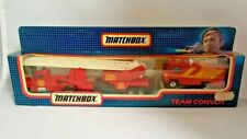 MATCHBOX TEAM CONVOY TC-1 Fire Set 1987 1:90 BOXED Pre-owned