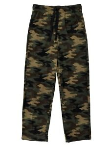 Mens Woodland Camouflage Brushed Fleece Sleep Lounge Pants Pajama Bottoms 2XL