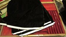 ancien velours de soie de gainage noir ecrin medaille coffret menagere 40x30cm