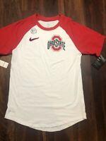 New Nike Mens Ohio State Buckeyes Short sleeve Shirt Size Small White Red