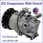 Fits 2004 2005 2006 Scion xA 1.5L /Scion xB Air A/C Compressor & Clutch C1868
