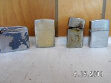 Vintage Lot 4 Misc. USED Lighters Non Zippo Imperial, Ronson, Storm King, Japan