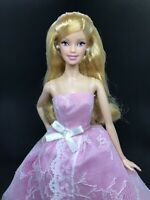 2015 Birthday Wishes Barbie Doll Blonde Model Muse for OOAK Repaint Pink Gown