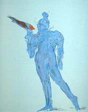 "Max, Peter   ""Circus Performer with Bird""    Print   MAKE OFFER"