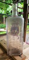 Large P. C. Crowley & Co. Boston, Massachusetts Full Quart Flask Hint of SCA