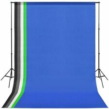 vidaXL Photo Studio Kit with 5 Coloured Backdrops and Adjustable Frame Stand