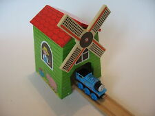 WINDMILL TUNNEL fits Wooden Train Track ( Brio  Thomas ELC ) ~ NEW BOXED