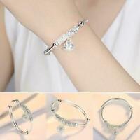 Exquisite Damen Silber überzogene Kugel Anhänger Palace Bell Armband Schmuc