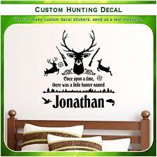 Custom Deer Doe Hunting Quote Vinyl Wall Home Decor Art Sticker Decal S161