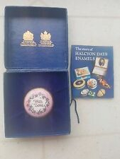 """Halcyon Days Enamel Pink """"With Love""""  Trinket Box Screw Lid with Box n Pamphlet"""
