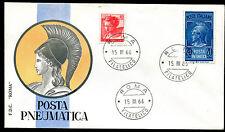 1966 - Lire 20 Posta Pneumatica - n. 21  - Busta FDC