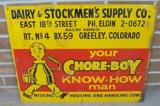 VINTAGE DAIRY STOCKMEN'S & SUPPLY CO SIGN GREELEY COLORADO MILKING HOUSING COWS