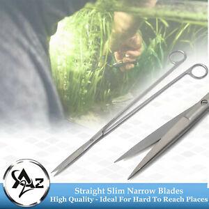 "Long Handle Aquascaping Fish Aquarium Cleaner Scissors Straight 12"" Sharp/Sharp"