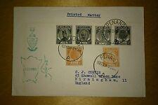 Malaya 1958 Cover PENANG MAP & Emblem Design, Stamp Kedah Penang Kelantan etc
