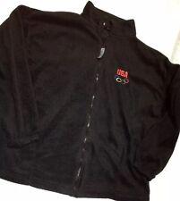 Black Fleece USA Olympic Team Full Zip Front Jacket Lightweight Unisex Sz XXL