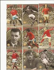 MANCHESTER UNITED ~FUTERA ~1997 ~ RARE FULL SET OF 9 HIGHEST EVER CARDS ~ MINT