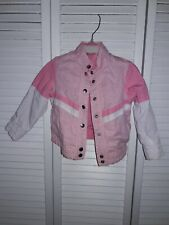 Jacket For toddlers girls 2 In 1 two sides pink