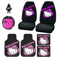 Nouveau Design Hello Kitty Voiture HOUSSES Tapis de Sol Accessoires Lot pour Gué