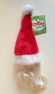 Dog Santa Hat Pet Costume - Red & White Plush - Size S/M - Brand New With Tags