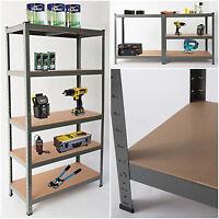 Heavy Duty 5 Tier Steel Garage Shelves or Workbench Multifunction Racking