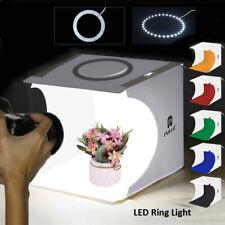 Mini LED Ring Light Portable Photo Studio Photography Tent Cube Box 6 Backdrop