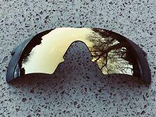 NUOVO 24k ORO SPECCHIO di ricambio Oakley M Frame Hybrid Lens + GRATIS Carry Pouch