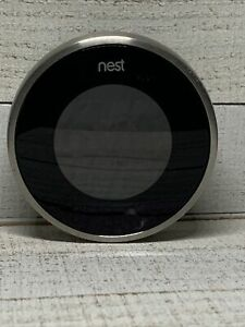 Nest Learning Thermostat 3rd Gen 02A Silver Smart Home B0114