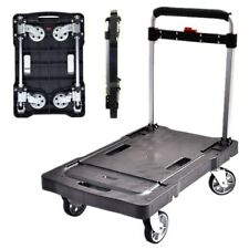 200kgs Folding Portable Flatbed Trolley with Silent Wheels Luggage Hand Truck