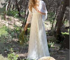 Summer Bohemian Boho Beach Wedding Dress Lace A Line Bridal Gowns Custom made